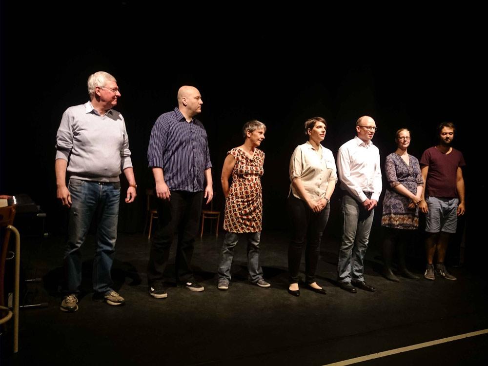Das Improbanden-Ensemble, leider ohne Musiker Dirk