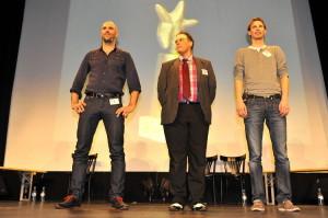 Die Finalisten (v.l.n.r.): S. Kjel Fiedler, Dave Luza, Ben Hartwig. Foto: Thomas Bruttel